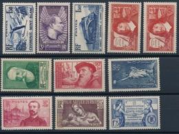 N-102: FRANCE:  Lot  Avec Timbres** De 1937  N°334-338-340-341/44-352/53-356-357 - France
