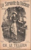 La Servante Du Docteur. Scène Comique. Partition Ancienne, Petit Format, Couverture Illustrée Donjean. - Scores & Partitions