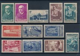 N-103: FRANCE:  Lot  Avec Timbres** De 1938  N°377/377A-379-386/87-395-396-399-401-402-417-418 - France