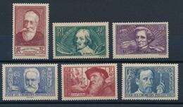 N-104: FRANCE:  Lot  Avec Timbres** De 1938  N°380/385 - France