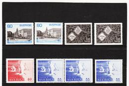 ECK1025 SCHWEDEN 1971 Michl 700/01 X+y + 704/05 ** Postfrisch SIEHE ABBILDUNG - Schweden