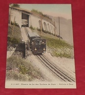 Chemin De Fer Des Rochers De Naye - Arrivée à Caux  ::: Animation - Neige - Train - Locomotive - Wagon ------------- 477 - VD Vaud