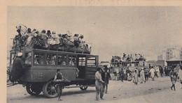 CASABLANCA / LE DEPART POUR LE BLED SUR LES AUTOS DE LA C.T.M / RARE - Casablanca