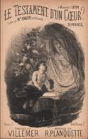 Le Testament D'un Cœur. Romance, Partition Ancienne, Petit Format, Couverture Illustrée De Ancourt. - Scores & Partitions