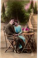 Cartolina Viaggiata 1917 Con  Bollo Rimosso Per Scritta Sottostante (213 ) - Coppie