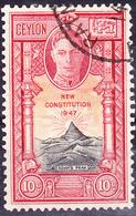 Ceylon - Neue Verfassung (MiNr: 249) 1947 - Gest Used Obl - Ceylon (...-1947)