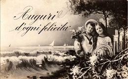 Cartolina Con  Bollo Rimosso Per Scritta Sottostante (213 ) - Auguri - Feste