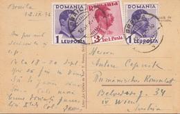 RUMÄNIEN 1936 - 3 Sondermarken Auf Ak BRAILA - 1918-1948 Ferdinand, Carol II. & Mihai I.