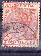 Ceylon - Königin Viktoria (MiNr: 116) 1899 - Gest Used Obl - Ceylon (...-1947)