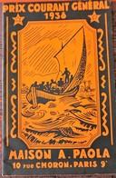 Catalogue Des TIMBRES POSTE  GENERAL- 1938 A.PAOLA - France