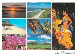 Afrique - Ile Maurice - 7 Vues - 1 Timbre Philatélique Au Verso - Voir Scan - Cpm - écrite - - Mauritius