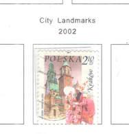 Polonia PO 2002 City LandMarks   Scott.3624+See Scan On Scott.Page; - Usati