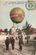 """MARSEILLE """"EXPOSITION COLONIALE """"Ballon Captif Et Le Village Marocain"""" - Expositions Coloniales 1906 - 1922"""
