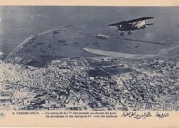 CASABLANCA /  AVION AEROPOSTALE AU DESSUS DU PORT - Casablanca