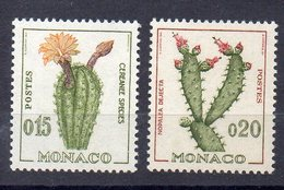 Monaco 1960 YT 542/3 Cactus, Flora Set MNH. - Sukkulenten