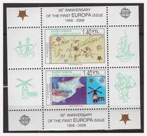 0918 Cyprus Turk 2006 50 Year Europe CEPT S/S MNH - 2006