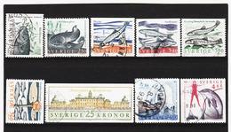 ECK1023 SCHWEDEN 1991 Michl 1649/54+1662+1666/67 Gestempelt SIEHE ABBILDUNG - Schweden