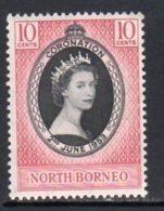 Malaya North Borneo 1953 Coronation, Hinged Mint, SG 371 - North Borneo (...-1963)