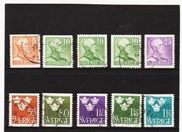 ECK1021 SCHWEDEN 1948 Michl 332/39 Gestempelt SIEHE ABBILDUNG - Schweden