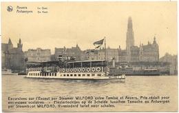 Anvers NA62: Le Quai. Excursions Sur L'Escaut Par Steamer Wilford... - Antwerpen