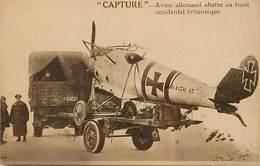 Themes Div- Ref Z75- Guerre 1914-18- Avions - Aviation - Avion Allemand Capturé -abattu Au Front Occidental Britannique- - Guerra 1914-18