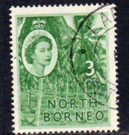 Malaya North Borneo 1954 Definitives 3c Value, Used, SG 374 - North Borneo (...-1963)