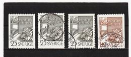ECK1020 SCHWEDEN 1952 Michl 367/68 Gestempelt SIEHE ABBILDUNG - Gebraucht