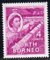 Malaya North Borneo 1954 Definitives 4c Value, MNH, SG 375 - North Borneo (...-1963)
