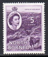 Malaya North Borneo 1954 Definitives 5c Value, MNH, SG 376 - North Borneo (...-1963)
