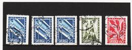 ECK1019 SCHWEDEN 1953 Michl 385/87 Gestempelt SIEHE ABBILDUNG - Schweden