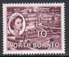 Malaya North Borneo 1954 Definitives 10c Value, MNH, SG 378 - North Borneo (...-1963)