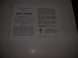 Robert Herman (Dadizele 1920-Heist 1969)xDeschamps  - Direkteur Rijkstechnischinstituut Te Heist - Devotieprenten