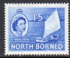 Malaya North Borneo 1954 Definitives 15c Value, MNH, SG 379 - North Borneo (...-1963)