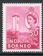 Malaya North Borneo 1954 Definitives 50c Value, MNH, SG 382 - North Borneo (...-1963)