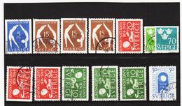 ECK1016 SCHWEDEN 1949 Michl 349/55 Gestempelt SIEHE ABBILDUNG - Schweden