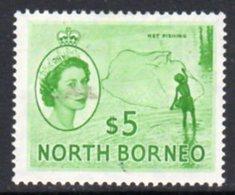 Malaya North Borneo 1954 Definitives $5 Value, Hinged Mint, SG 385 - North Borneo (...-1963)