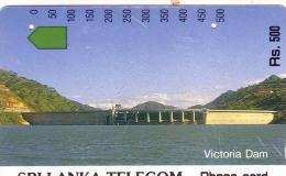 SRI LANKA AUTELCA BARRAGE VICTORIA DAM 500 RS UT OLDTIMER CARD 1ERE CARTE DU SRI LANKA RARE - Sri Lanka (Ceylon)