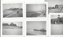 OOSTENDE, Reeksje Van 10 Foto's Uit 1938 - Oostende Onder De Sneeuw   (10 X 7 Cm) - Oostende