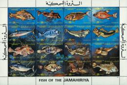 Ref. 37221 * NEW *  - LIBYA . 1983. MARINE FAUNA. FISHES. FAUNA MARINA. PECES - Libia