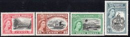 Malaya North Borneo 1956 75th Anniversary Of North Borneo Company Set Of 4, MNH, SG 387/90 - North Borneo (...-1963)