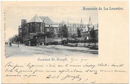 Souvenir De La Louvière NA58: Institut St Joseph ( Tramway à Vapeur ) 1900 - La Louvière