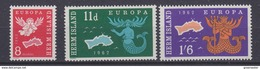 Europa Cept 1962 Herm Island 3v ** Mnh (41301N) - 1962