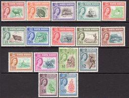 Malaya North Borneo 1961 Definitives Set Of 16, MNH Except $1 & $5 Used, SG 391/406 - North Borneo (...-1963)