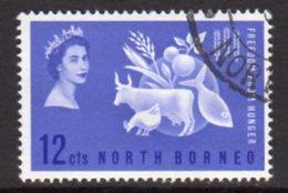 Malaya North Borneo 1963 Freedom From Hunger, Used, SG 407 - North Borneo (...-1963)