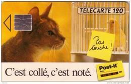 FRANCE F322A POST IT 120U SO4 CHAT CAT UT - France
