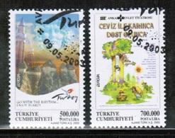 CEPT 2003 TR MI 3333-34 TURKEY USED - Europa-CEPT
