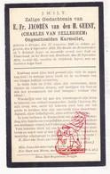 DP Gesneuveld WO I Oorlog 14-18 EH Ch. Van Belleghem / De Meynynck - Brancardier ° Brugge 1895 † Merkem Bos V Houthulst - Images Religieuses