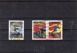 Lot De 3 Timbres - FLEUR DE LYS, SUPERMAN, JOHNY CAMUCK - CANADA - Books, Magazines, Comics