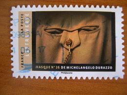 France  Obl Série Masques N° 1404 Cachet Rond Bleu - France