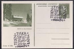 Yugoslavia, Postcard, Ljubljana , Print And Radio Week, 1955, Commemorative Cancellation - Stamps
